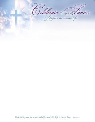 Celebrate the Risen Savior Easter Letterhead (pack of 100) (Bulletin)