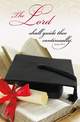 The Lord Shall Guide Thee Graduation Bulletin (pack of 100) (Bulletin)
