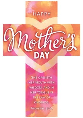 Happy Mother's Day Bookmark Cross (pack of 25) (Bookmark)