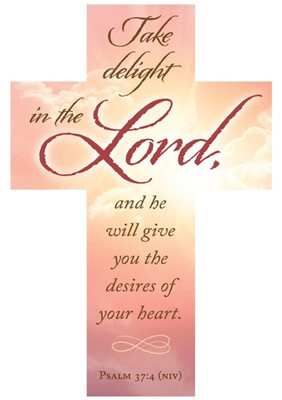 Take Delight in the Lord Bookmark Cross (pack of 25) (Bookmark)