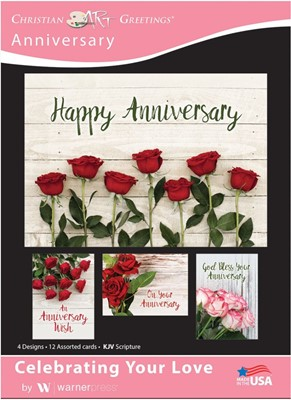 Boxed Cards - Celebrating Your Love Anniversary (pack of 12) (Cards)