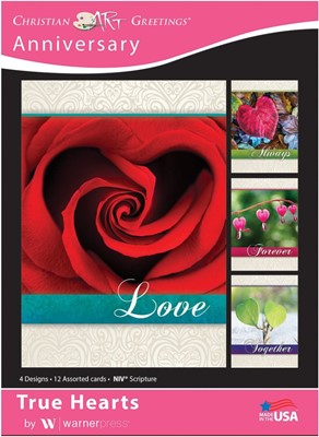 Boxed Cards - True Hearts Anniversary (pack of 12) (Cards)