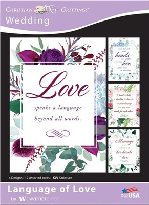 Boxed Cards - Language of Love Wedding (pack of 12) (Cards)