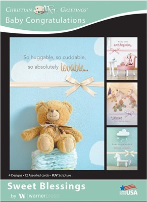 Boxed Cards - Sweet Blessings Baby Congratulations (12 pack) (Cards)