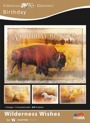 Boxed Cards - Wilderness Wishes Birthday (pack of 12) (Cards)