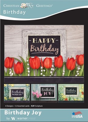Boxed Cards - Birthday Joy (pack of 12) (Cards)