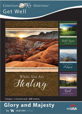 Boxed Cards - Glory and Majesty Get Well (pack of 12) (Cards)
