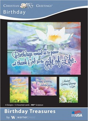 Boxed Cards - Birthday Treasures (pack of 12) (Cards)