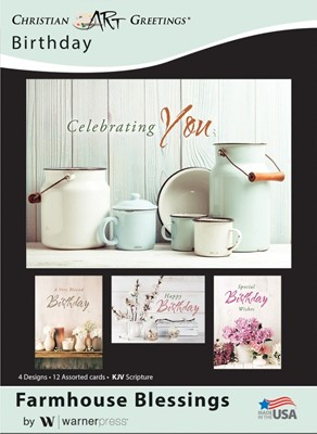 Boxed Cards - Farmhouse Blessings Birthday (pack of 12) (Cards)