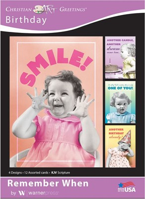 Boxed Cards - Remember When Birthday (pack of 12) (Cards)