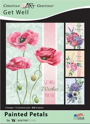 Boxed Cards - Painted Petals Get Well (pack of 12) (Cards)