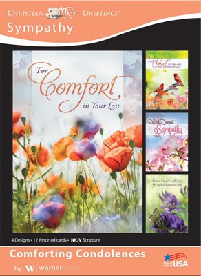Boxed Cards - Comforting Condolences Sympathy (pack of 12) (Cards)