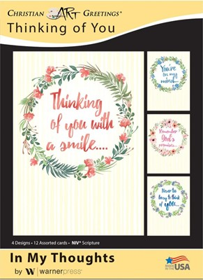 Boxed Cards - In My Thoughts (pack of 12) (Cards)