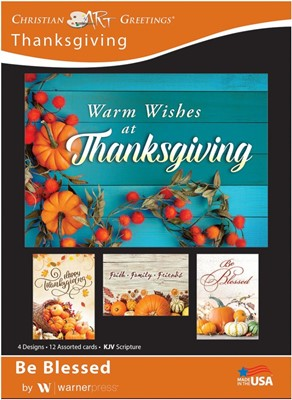 Boxed Cards - Be Blessed Thanksgiving (pack of 12) (Cards)