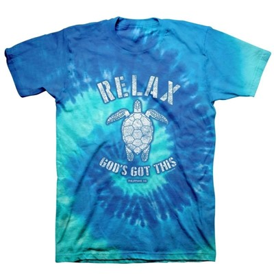 Relax Turtle Tie Dye T-Shirt, 2XLarge (General Merchandise)