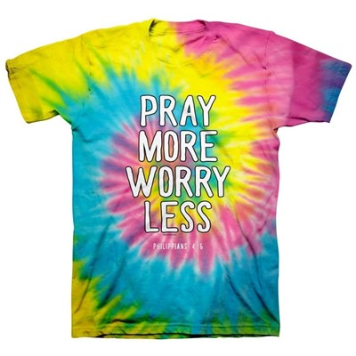 Pray More Tie Dye T-Shirt, Medium (General Merchandise)