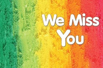 Celebrate Wonder We Miss You! Postcard (Pkg of 25) (Postcard)