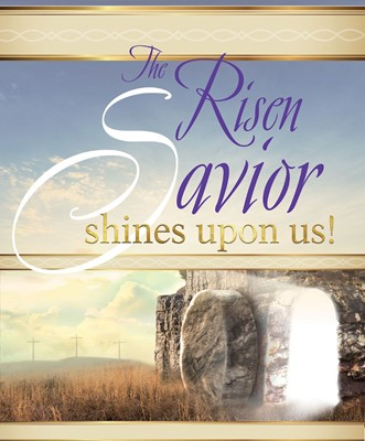 Risen Savior Sunrise Easter Bulletin Large (Pkg of 50) (Bulletin)