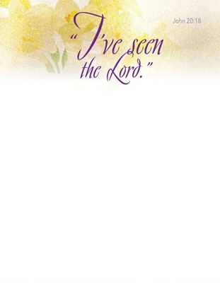 I've Seen Easter Lilies Letterhead (Pkg of 50) (Bulletin)