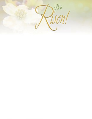 Risen Easter Dogwood Letterhead (Pkg of 50) (Bulletin)