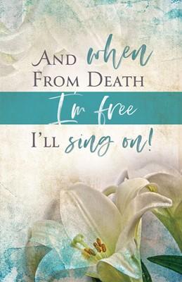 I'll Sing On Easter Sunday Bulletin (Pkg of 50) (Bulletin)