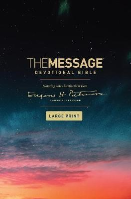 The Message Devotional Bible Large Print (Cloth-Bound)