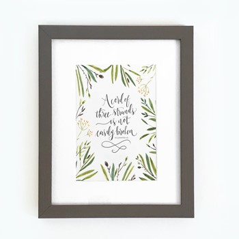 Cord of Three Strands Framed Print (10x8), A (General Merchandise)