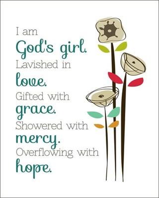 God's Girl Mini Card (Cards)