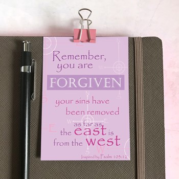 Forgiven Mini Card (Cards)