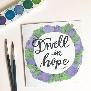 Dwell in Hope Card & Envelope (Cards)