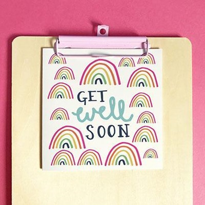 Get Well Soon Greeting Card & Envelope (Cards)