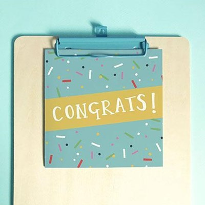 Congratulations Greeting Card & Envelope (Cards)