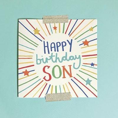 Happy Birthday Son Greeting Card & Envelope (Cards)