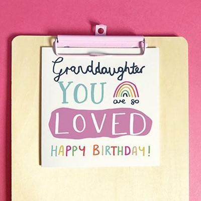 Happy Birthday Granddaughter Greeting Card & Envelope (Cards)