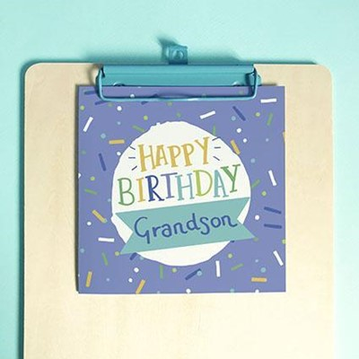 Happy Birthday Grandson Greeting Card & Envelope (Cards)