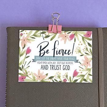 Be Fierce Mini Card (General Merchandise)