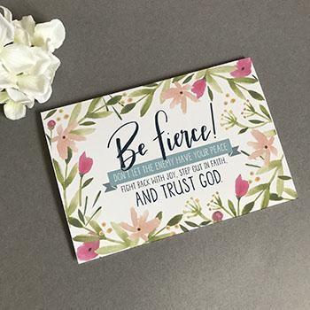 Be Fierce A6 Greeting Card (General Merchandise)