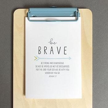 Be Brave (Arrow) A6 Greeting Card (General Merchandise)