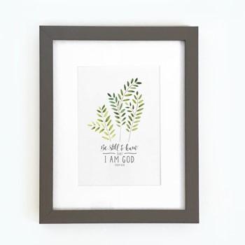 Be Still Framed Print, Grey (10x8) (General Merchandise)