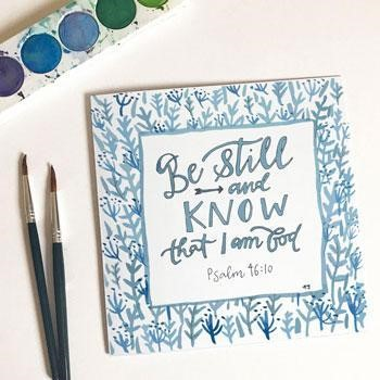 Be Still and Know Card & Envelope (Cards)