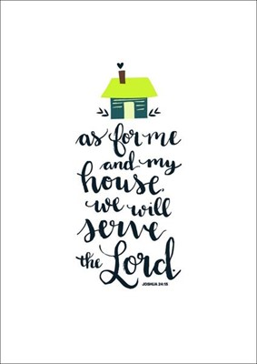 As For Me and My House (text) A6 Card (General Merchandise)