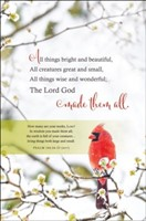 All Things Bright and Beautiful Bulletin (pack of 100) (Bulletin)