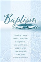 Baptism Colossians 2:12 Bulletin (pack of 100) (Bulletin)