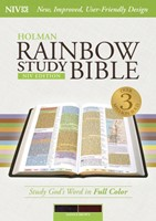NIV Rainbow Study Bible, Saddle Brown Leathertouch
