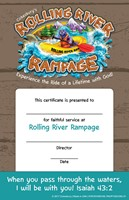 VBS 2018 Rolling River Rampage Leader Certificates (Certificate)