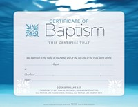 Baptism Blue Certificate (Pack of 6) (Certificate)