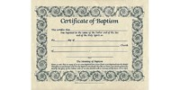 Baptism Certificate (Pack of 6) (Certificate)