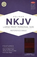 NKJV Large Print Personal Size Reference Bible, Saddle Brown
