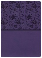 KJV Study Bible, Purple Leathertouch, Indexed