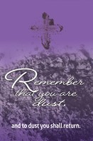Remember Ash Wednesday Bulletin (Pkg of 50) (Bulletin)